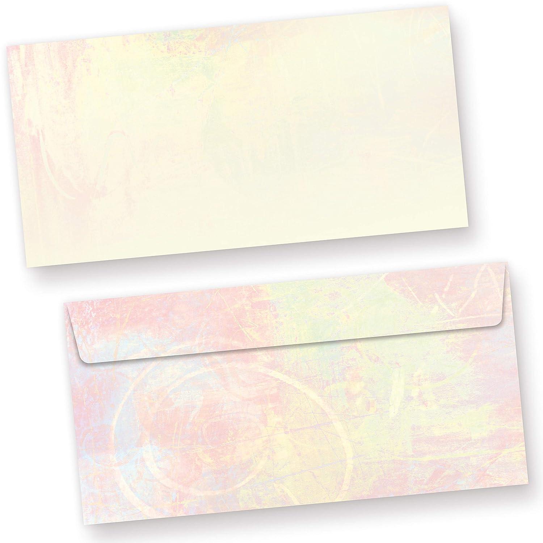 25 Blatt Briefpapier Briefpapierset 25 Briefumschläge mit Fenster hellblau