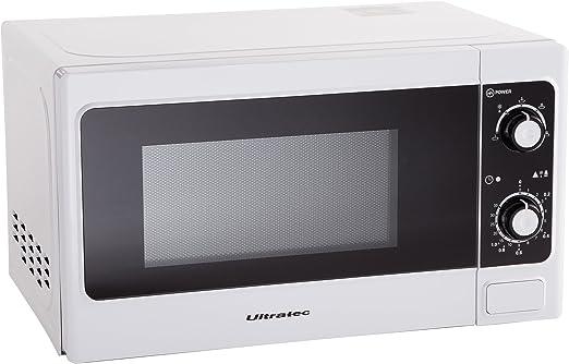 Ultratec Microondas MW100 700 W, Capacidad de 20 litros, función ...