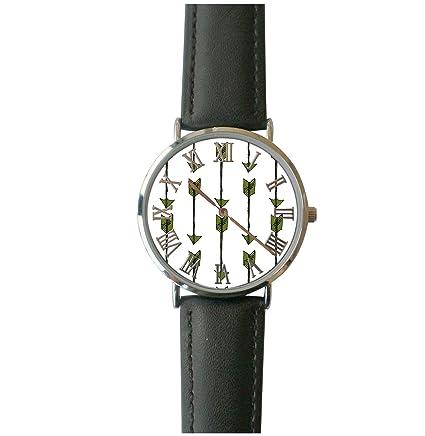b10d34067 Amazon.com: JISJJCKJSX Green Arrow custom watches quartz watch stainless  steel case: Home & Kitchen