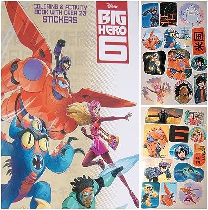 Disneys Big Hero 6 Mini Coloring Activity And Sticker Book 45quot