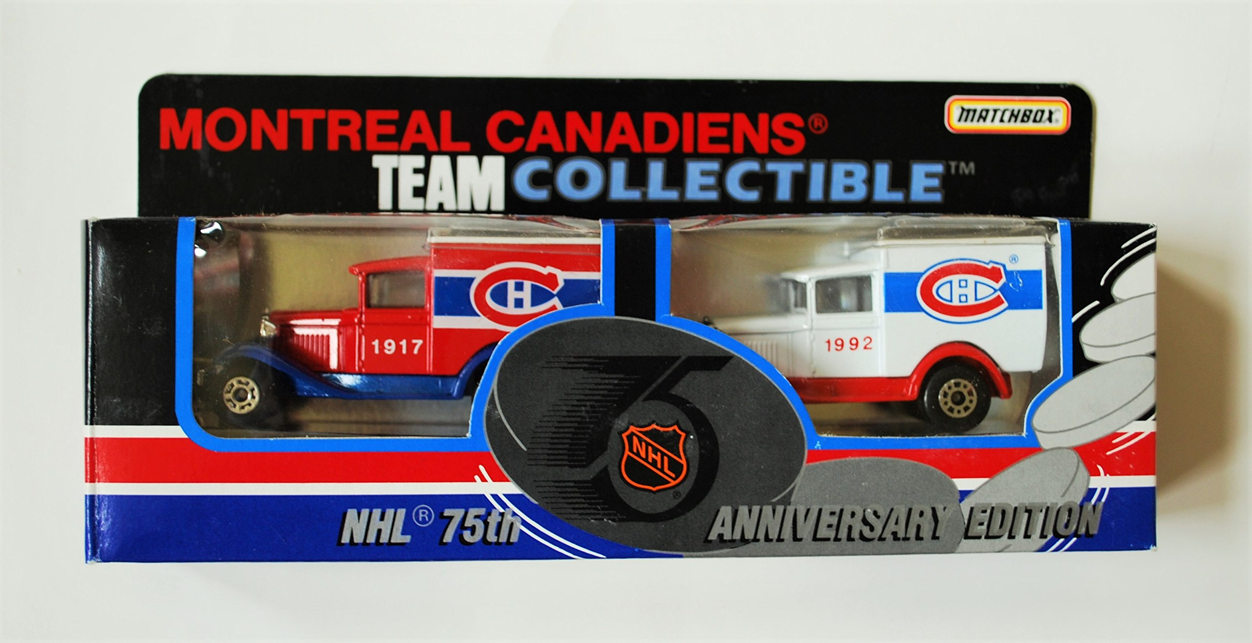 1992 Matchbox NHL Team Collectible 1:64 Scale Die Cast 2 Piece Truck Set MONTREAL CANADIENS