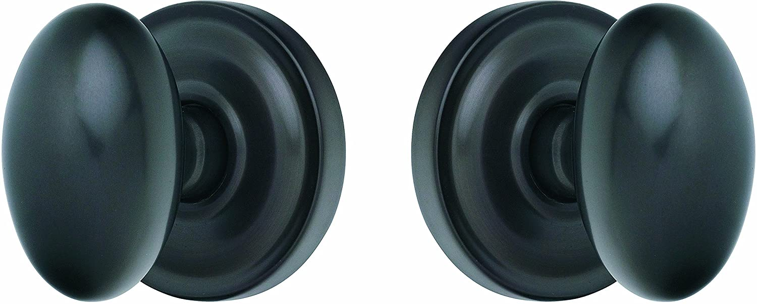 Rockwell solid brass, oil rubbed bronze Helmsley Egg Door Knob Set