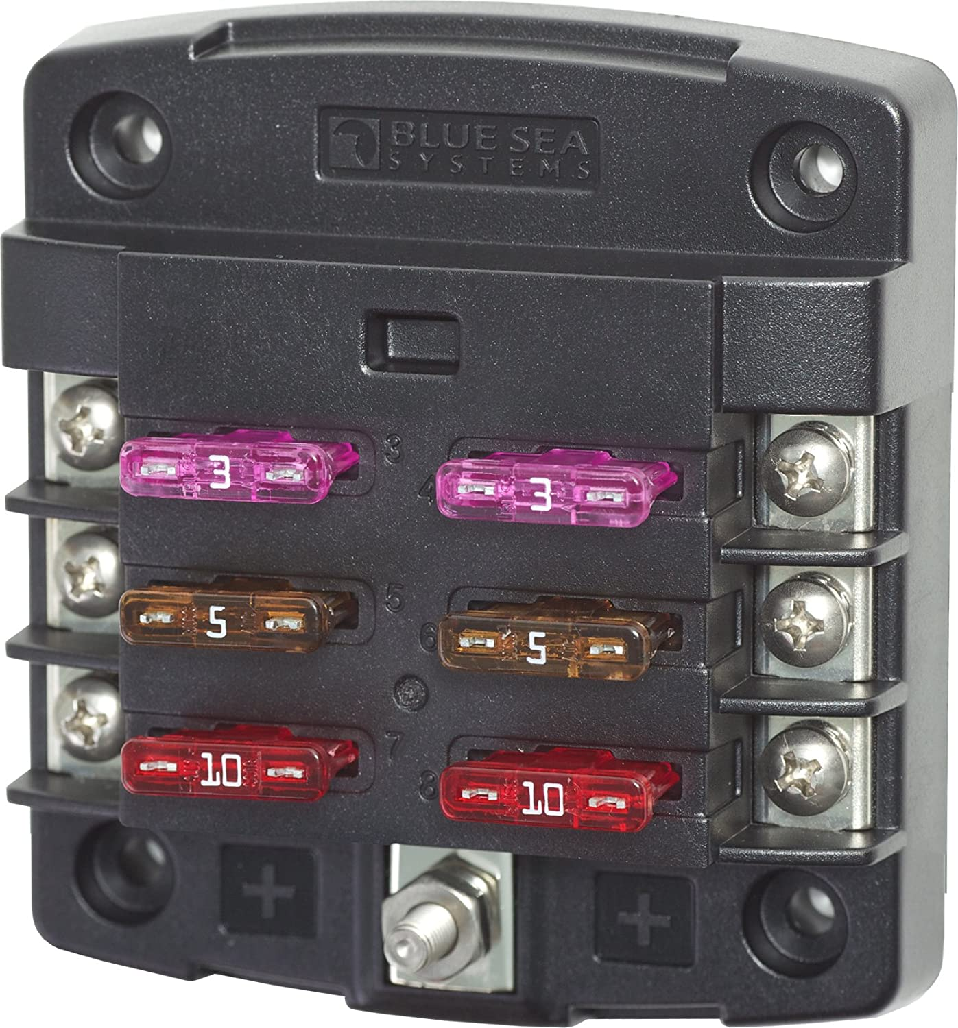 Amazon.com : Blue Sea Systems ST Blade 12-Circuit Fuse Block : Marine Fuse  Box : Sports & Outdoors