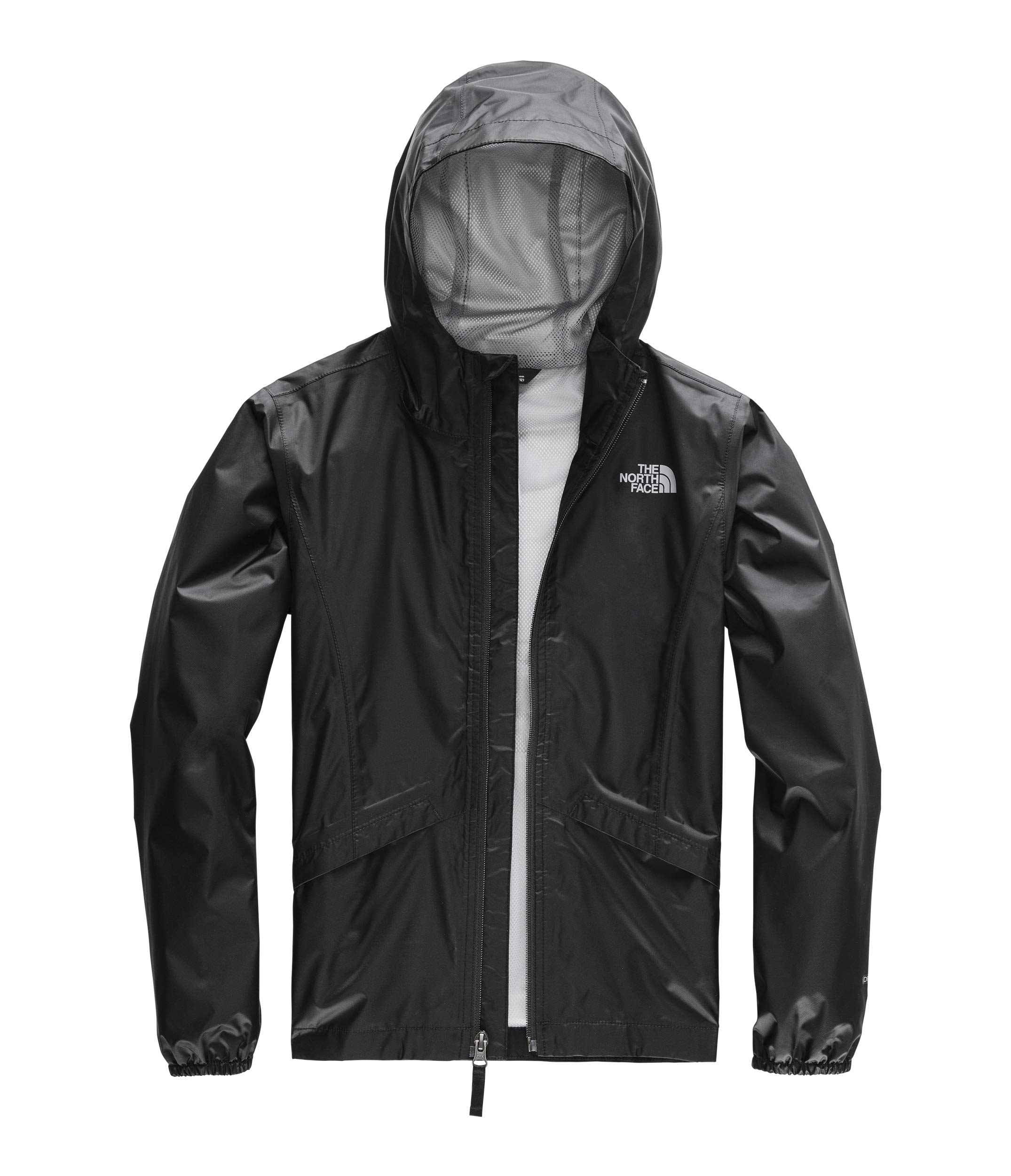 The North Face Girl's Zipline Rain Jacket, TNF Black, Size M by The North Face