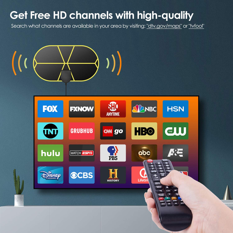 Antena TV Interior Port/átil HDTV Digital con Amplificador