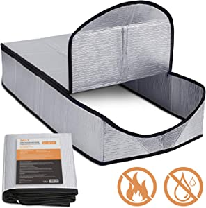 """Incly Attic Stairway Insulator Cover 25"""" x 54"""" x 11"""" Attic Door Ladder Insulation Pull Down Tent with Zipper"""
