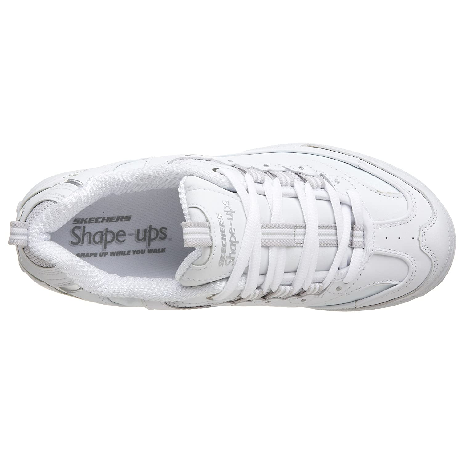 Skechers Women's Work Shape Ups Metabolize Fitness Work Women's Out Sneaker B002DZ3B42 8 W US|White/Silver c67e5c