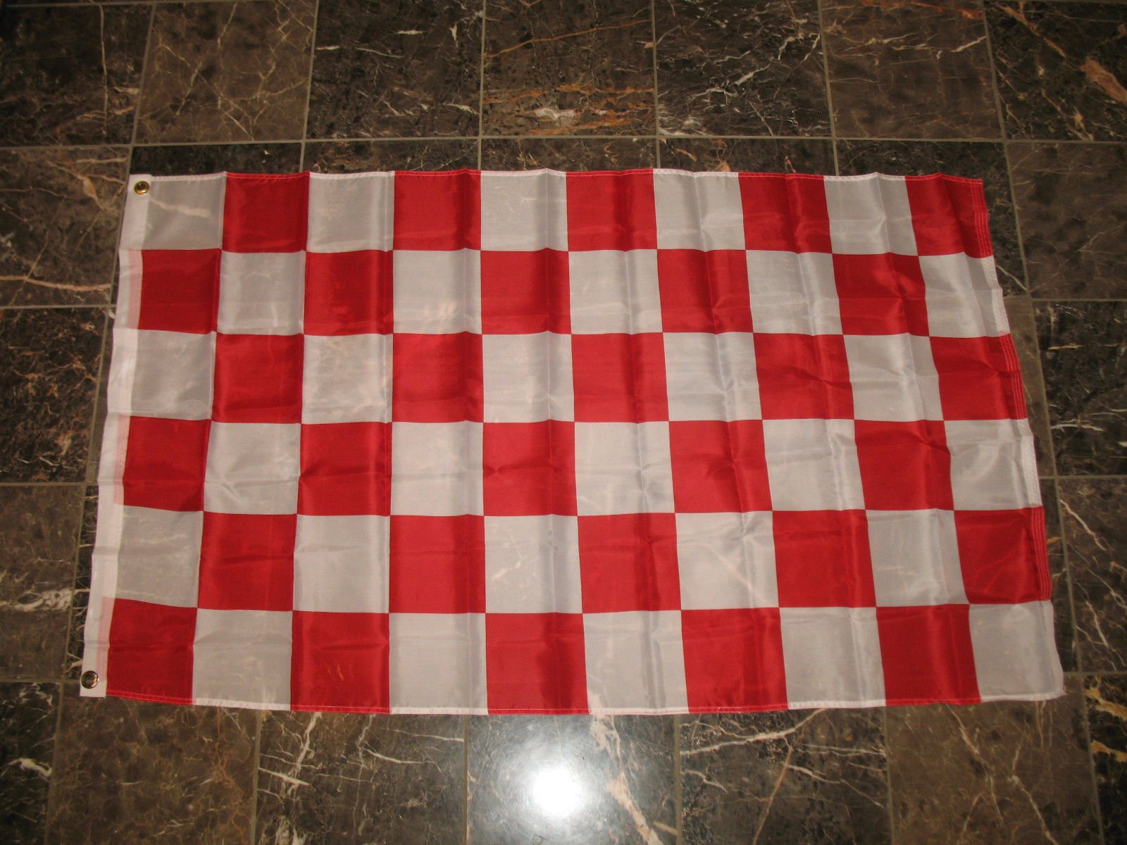 3X5 Advertising Checkered Checker Red White Flag