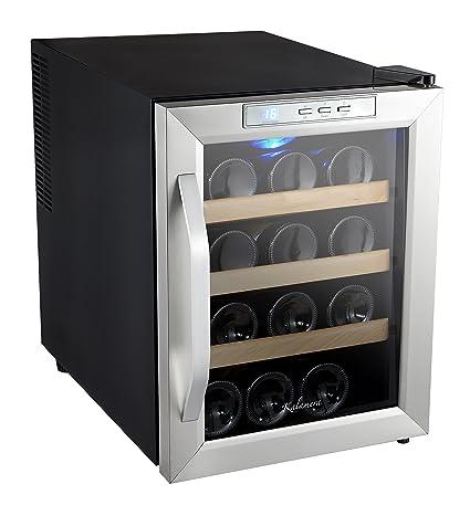 Vinoteca. 12-bottles negro: Amazon.es: Grandes electrodomésticos