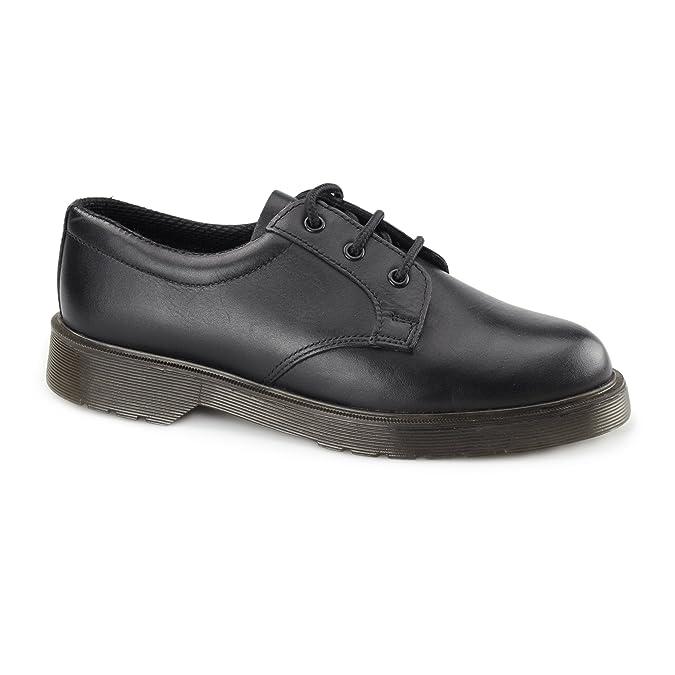 Grafters - Zapatos de cordones de cuero para hombre negro negro: Amazon.es: Zapatos y complementos