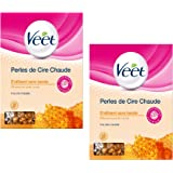 Veet - Epilation Perles de Cire Chaude 230 g - Lot de 2