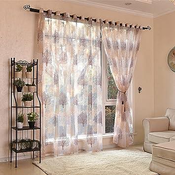 Voile Sheer Curtain 1pcs Panel Window Curtains 100*250 Cm Tulle Treatment Drape  Valance House
