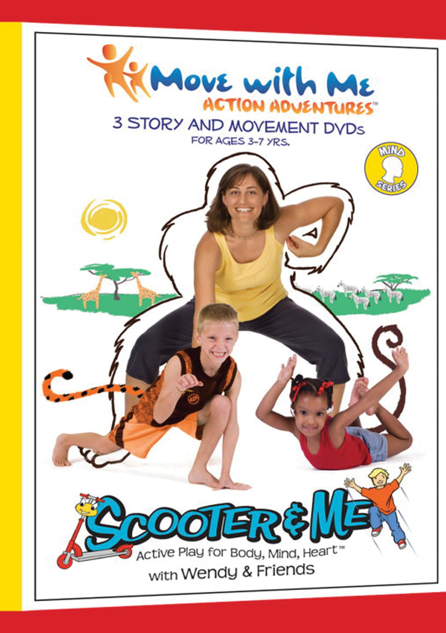 Kids Yoga DVDs – Scooter & Me Mind Series (Set of 3) for Focus, Self-Awareness & Self-Control