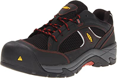8205b56395 KEEN Utility Men's Albany Composite Toe Work Shoe,Black/Bossa Nova, 8 EE