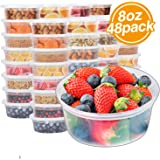 Glotoch 8oz Plastic Containers with Lids- Leakproof Slime,Deli, Food Storage,Soup,Meal Prep Containers.BPA Free…