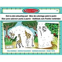 Melissa & Doug ABC 123 - Bloc con Dibujos para Conectar los Puntos y Colorear - Animales Salvajes