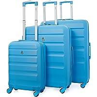 "Aerolite Lightweight 4 Wheel ABS Hard Shell 3 Piece Suitcase Luggage Set (21"" Cabin + 25"" Medium + 29"" Large)"