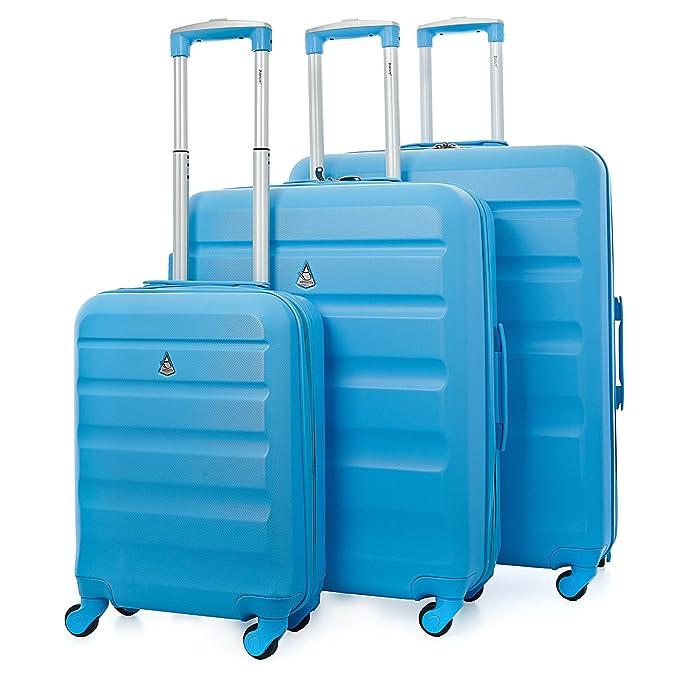 150 opinioni per Aerolite- Set di 3 trolley in ABS- Valigie rigide e leggere con 4 Ruote-