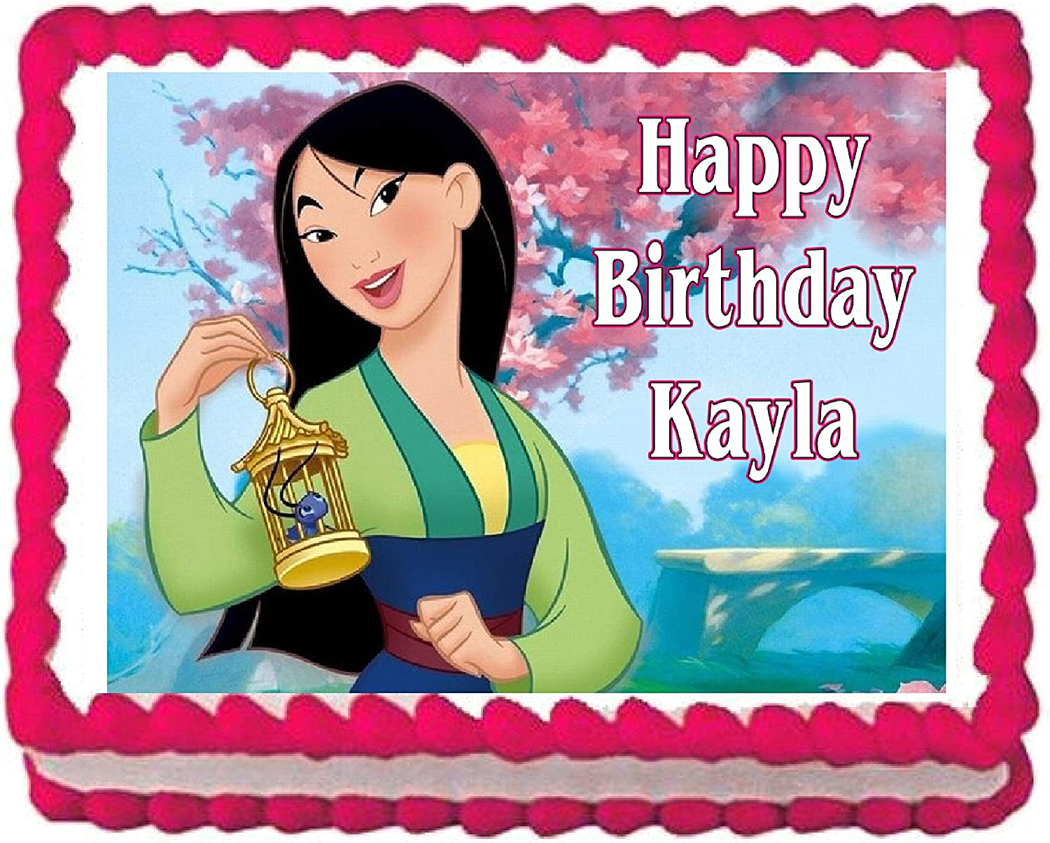 Excellent Amazon Com Mulan Edible Cake Image Cake Topper Decoration Funny Birthday Cards Online Bapapcheapnameinfo