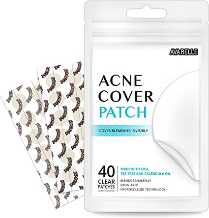 Avarelle cubierta Acne parche hidrocoloide, árbol de té y aceite de caléndula (Variety Pack / 40 parches): Amazon.es: Belleza