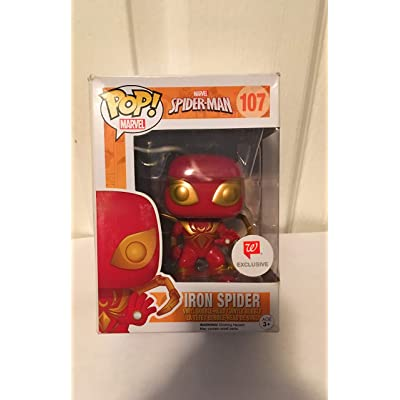 Funko Pop! Marvel Iron Spider-Man Pop Vinyl Exclusive Bobble Head: Toys & Games