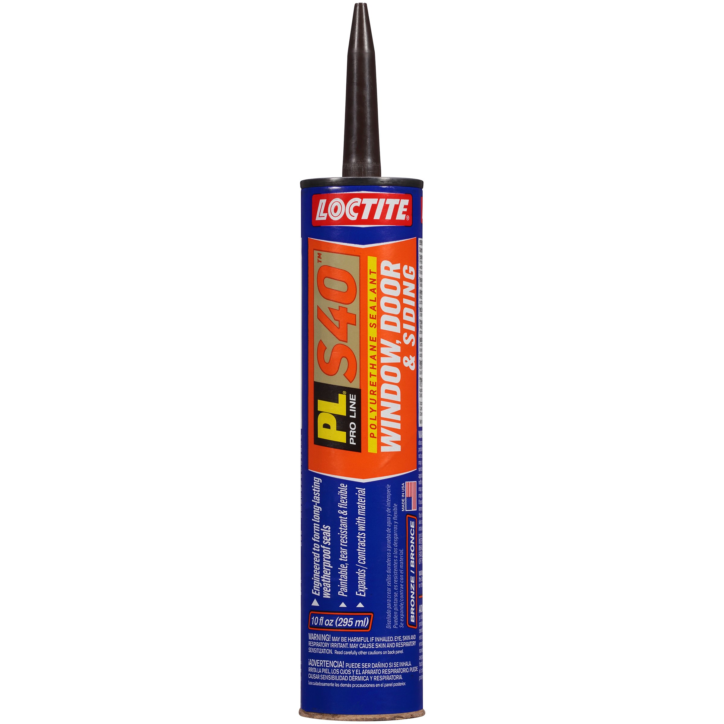 Loctite PL S40 Polyurethane Window, Door and Siding Sealant, 10 Ounce Cartridge, Bronze, 12-Pack (1618175-12)