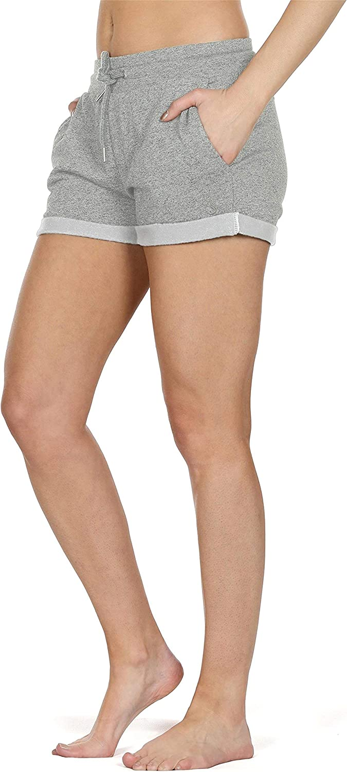 Athletic Running Jogging Cotton Sweat Shorts icyzone Workout Lounge Shorts for Women