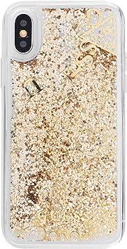 Guess Liquid Glitter - Estuche para Apple iPhone X, Color Dorado: Amazon.es: Electrónica