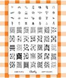 Nail Art Jumbo Stamp Stamping Manicure Image Plate 6 Happy Holidays by Cheeky®