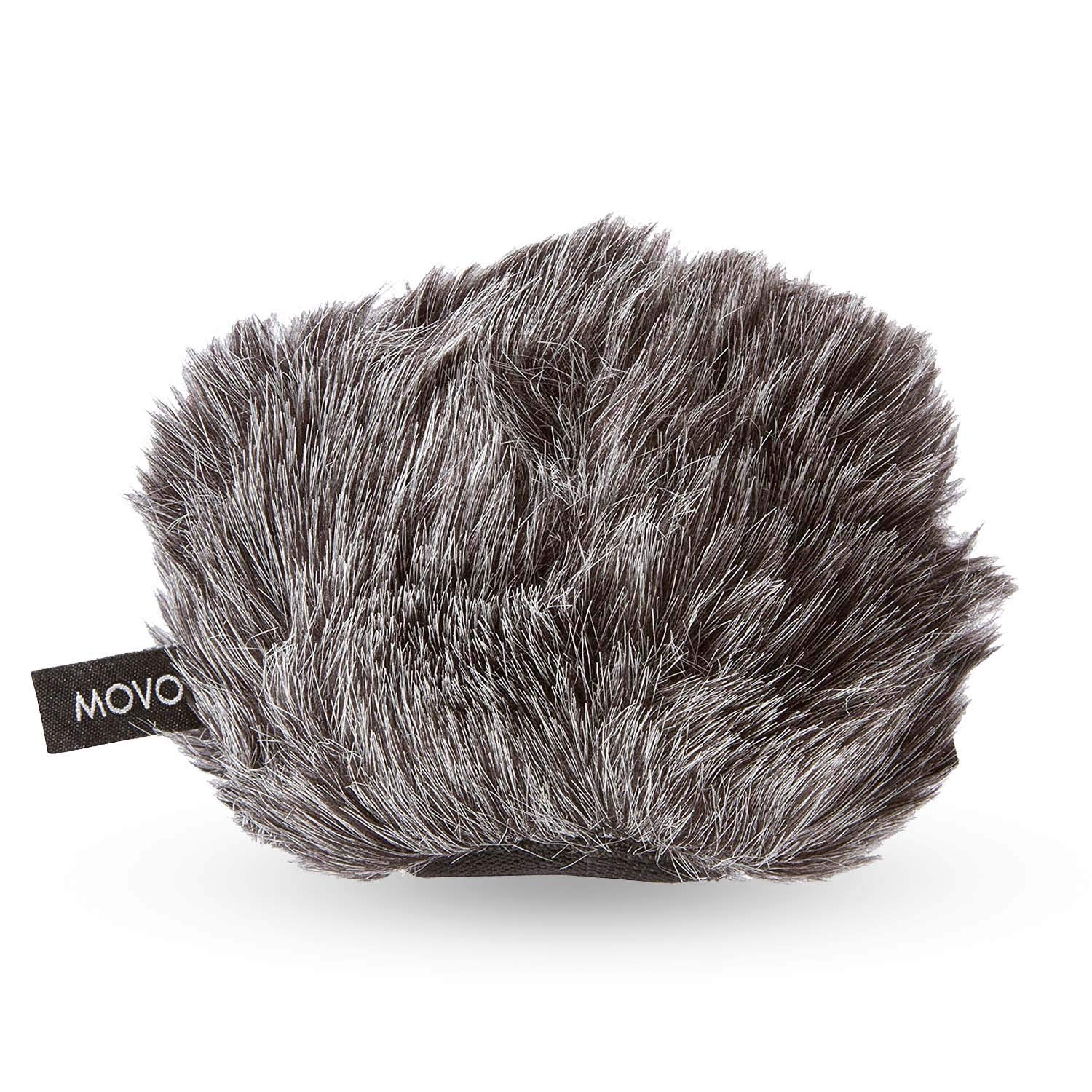 Movo WS-G9 Furry Outdoor Microphone Windscreen Muff for Portable Digital Recorders up to 3'' X 1.5'' (W x D) - Fits the Zoom H4n, H4n PRO, H5, H6, Tascam DR-40, DR-05, DR-07 and More (Dark Gray) by Movo
