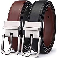 BULLIANT Cinturón Hombre, Cinturón Reversible de Cuero 31mm,Un Revés para 2 Colores,Tamaño Ajuste