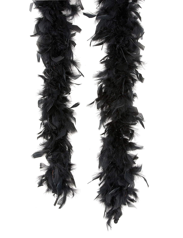 Boa de plumas negro 180cm Folat