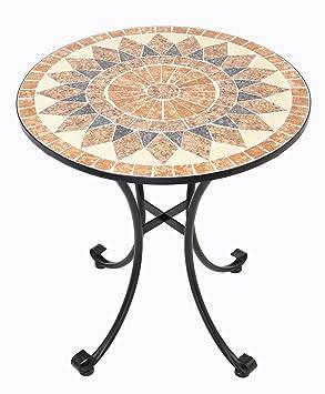 Amazon De Frank Flechtwaren Hochwertiger Massiver Metall Tisch Mosaik