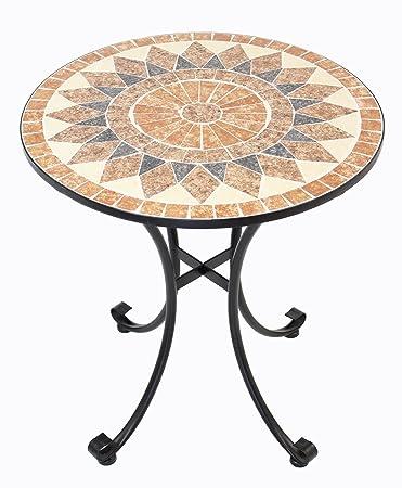 Amazon.de: Frank Flechtwaren Hochwertiger, Massiver Metall-Tisch Mosaik