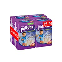 Huggies Pull-Ups Night Time Potty Training Pants for Boys, Medium, Pack of 4 (56 Pants)