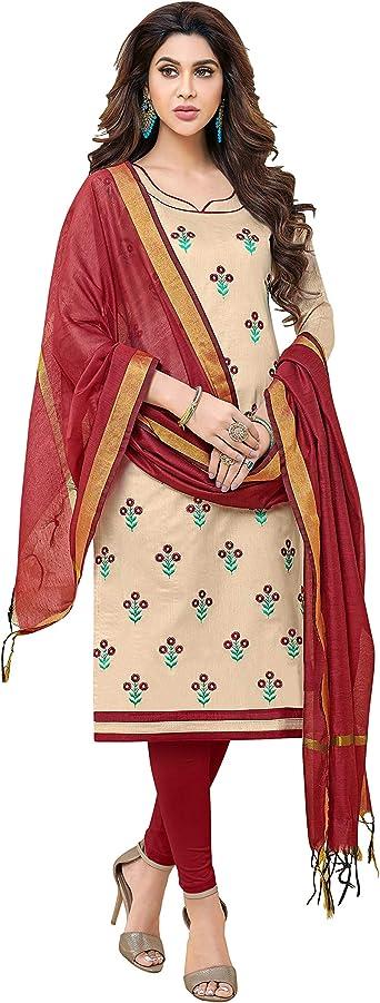 Heavy Modal Salwar Kameez Dress Material Embroidery Print Suit Indian Women Wear