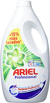 Ariel Professional - Pack de 2 botellas de detergente líquido, 2 x 55 lavados