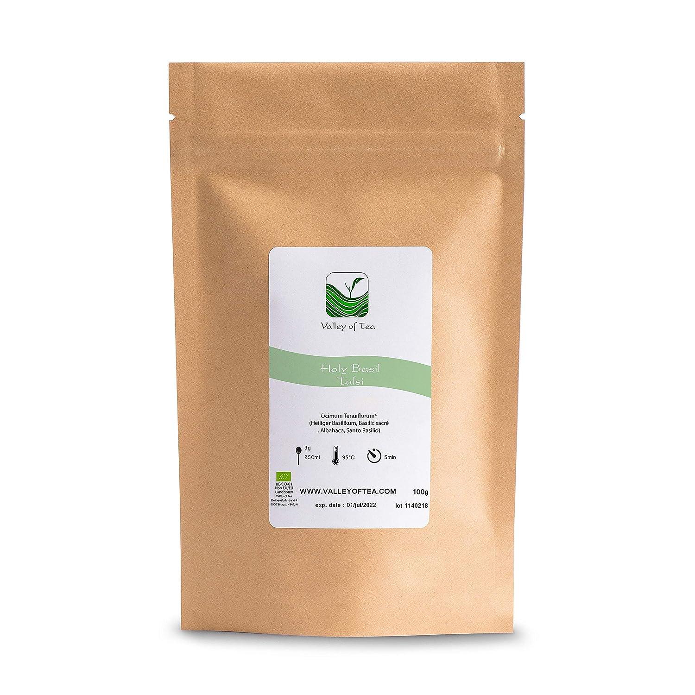 Indisches Basilikum Biologischer Kräutertee Tulsi - süß, grün und delikat - lose Blätter Tee von Tulsi - Indie - Tulasi Bio aus indien 100g