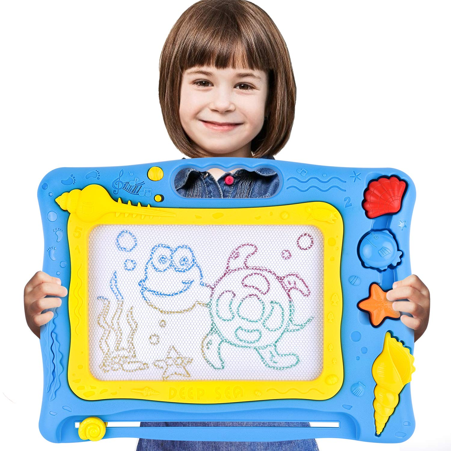 Rainbrace magnetic drawing board kids toys colorful toddler doodle boards for boys girls non toxic erasable large magna doodle drawing pad for writing