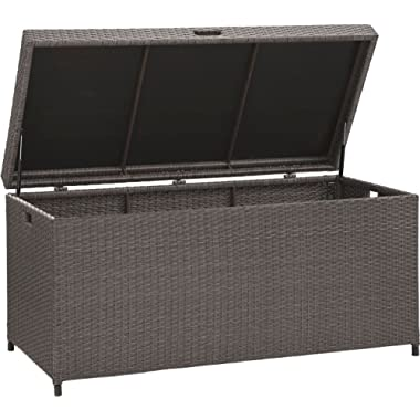 Crosley Furniture Palm Harbor Outdoor Wicker Storage Bin - Grey