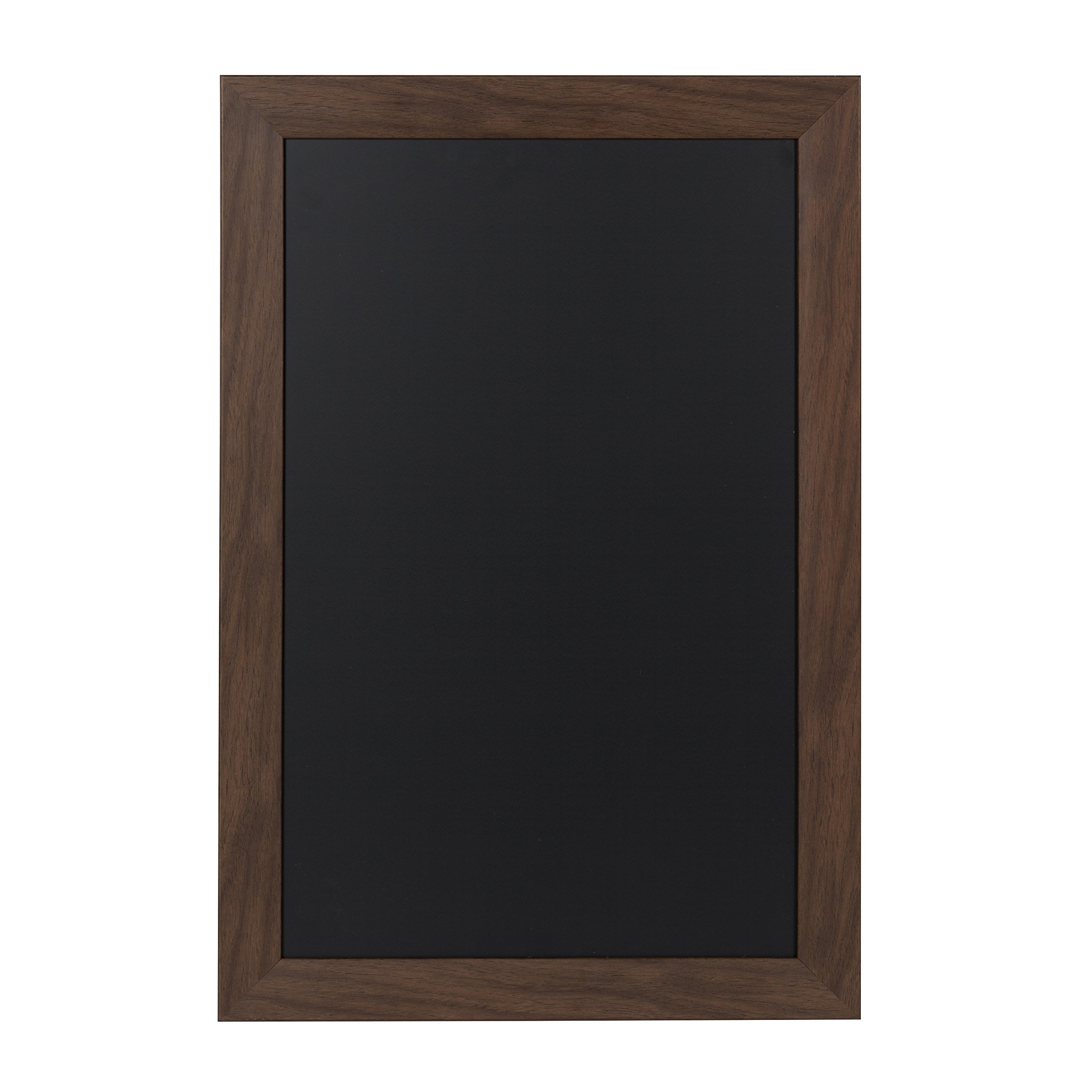 DesignOvation Beatrice Framed Magnetic Chalkboard, 18x27, Walnut Brown by DesignOvation