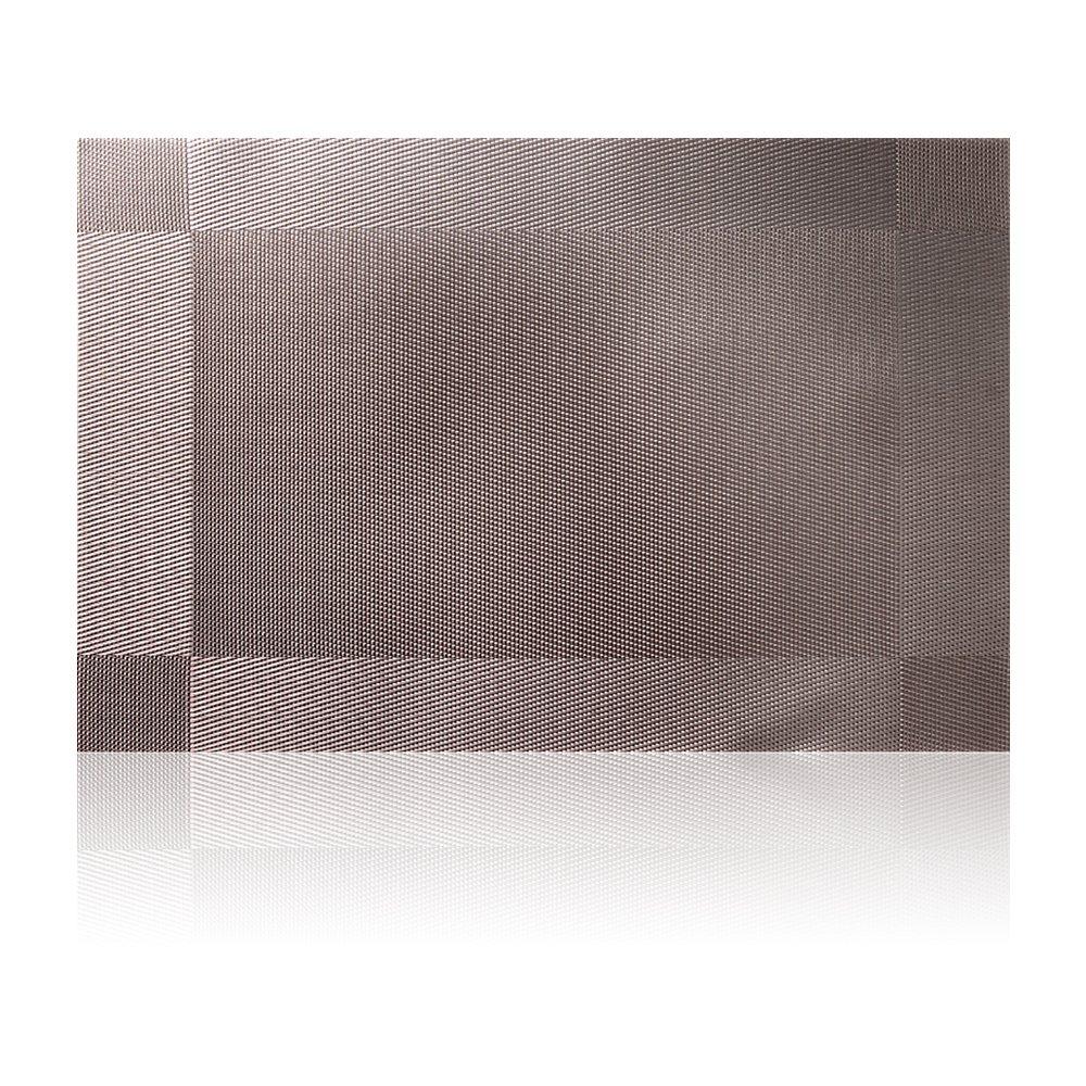 Placemat,U'Artlines Crossweave Woven Vinyl Non-slip Insulation Placemat Washable Table Mats Set of 6 (6pcs placemats, Grey) by U'Artlines (Image #2)