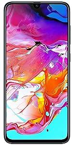Samsung Galaxy A70 (Black, 6GB RAM, 128GB Storage) with No...