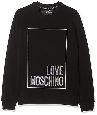 molto carino 32412 dbe66 Love Moschino Logo Box Print_Long Sleeve Sweater Felpa Uomo ...