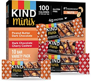 product image for KIND Bar Mini's, Peanut Butter Dark Chocolate/Cherry Cashew, Gluten Free, Low Sugar, 10 Count (Pack of 8)