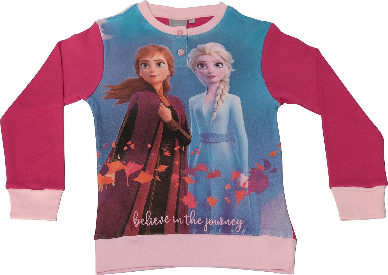 Lampone, 7//8 Anni Disney Pigiama Bambina Frozen 2 100/% Cotone Interlock Maniche Lunghe Pantalone Lungo