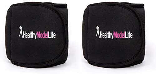 HEALTHYMODELLIFE Ankle Weights Set by Healthy Model Life – 0.5lb, 1lb, 2lb, 5lb and 8lb Sets – As Worn by Victoria Secret Angels – Used in Top Gyms in New York