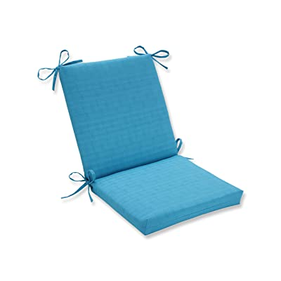 Pillow Perfect Outdoor Veranda Turquoise Squared Corners Chair Cushion: Home & Kitchen