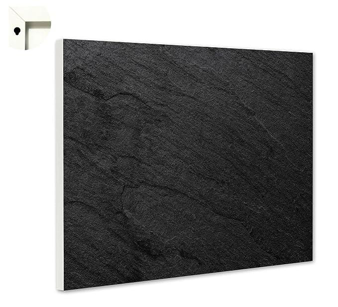 Magnettafel Pinnwand Motiv Muster Schiefer schwarz Gr/ö/ße 100 x 80 cm