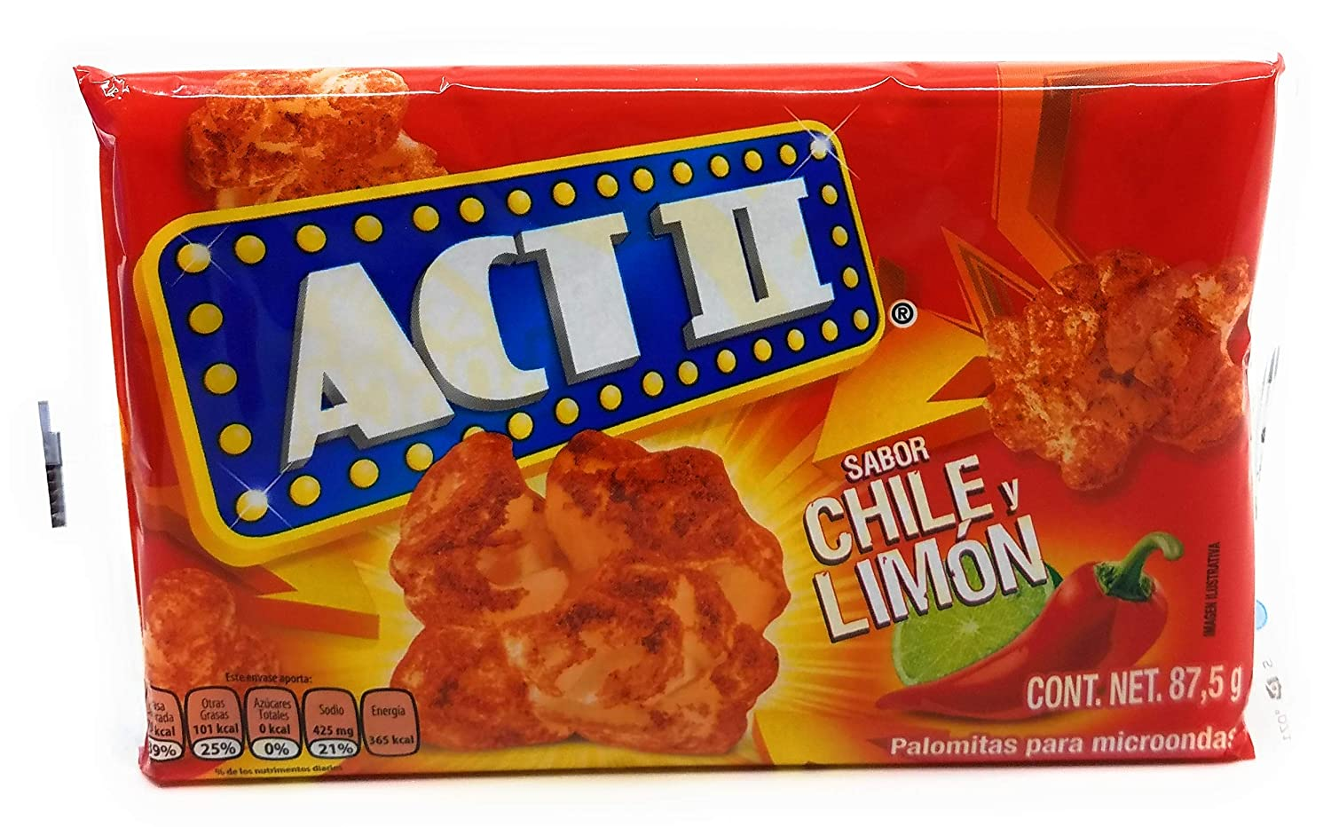 Amazon.com: Act II Chile y Limon (Chile and Lime) Microwave ...
